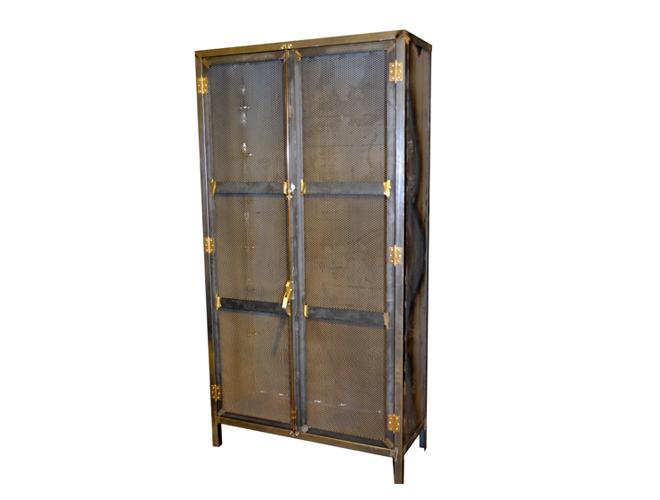 Armario vintage muebles de hierro lat n zinc inox - Armarios de hierro ...