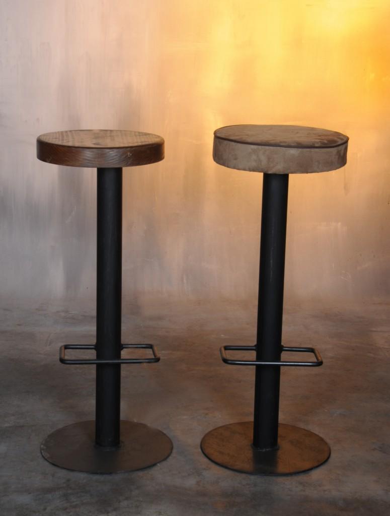 Taburete hierro natural bandi muebles de hierro lat n for Diseno de muebles de hierro