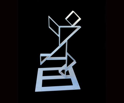 Escultura figura Tangram