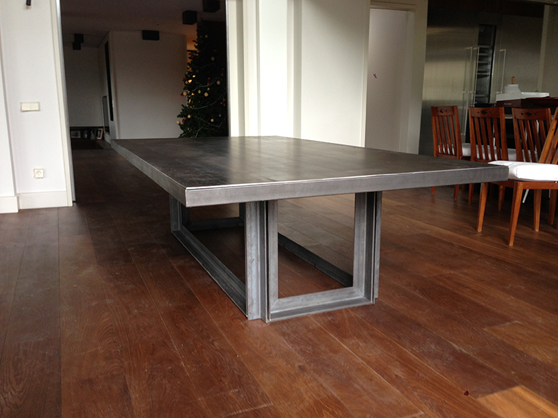 Mesa comedor muebles de hierro lat n zinc inox for Mesas de comedor coloniales