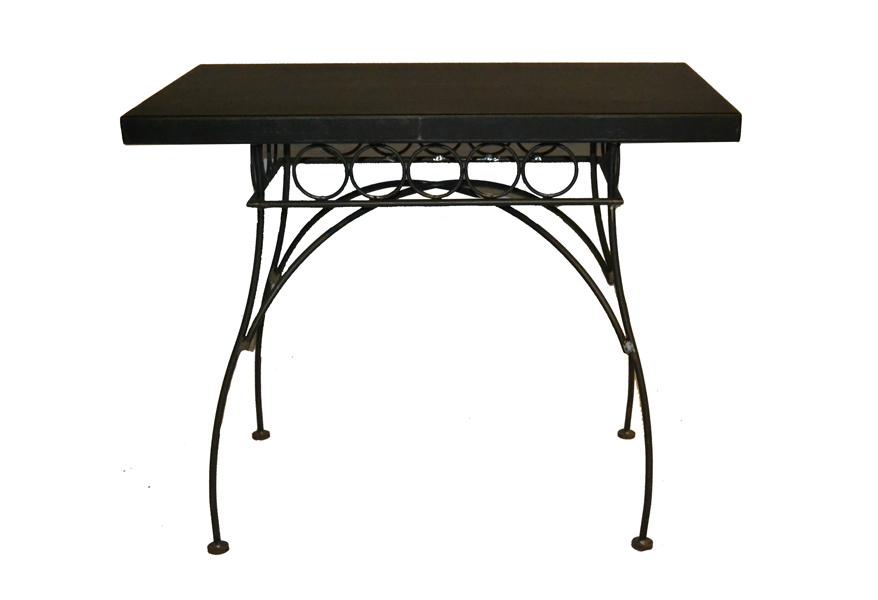 Mesa forja muebles de hierro lat n zinc inox sillas - Mesas de forja ikea ...